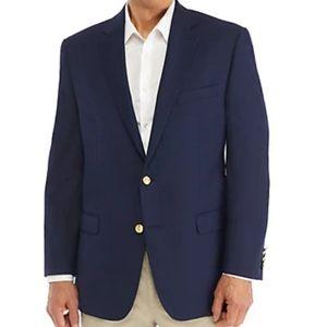 Mens Ralph Lauren Navy Blue Blazer Large 44 R Gold